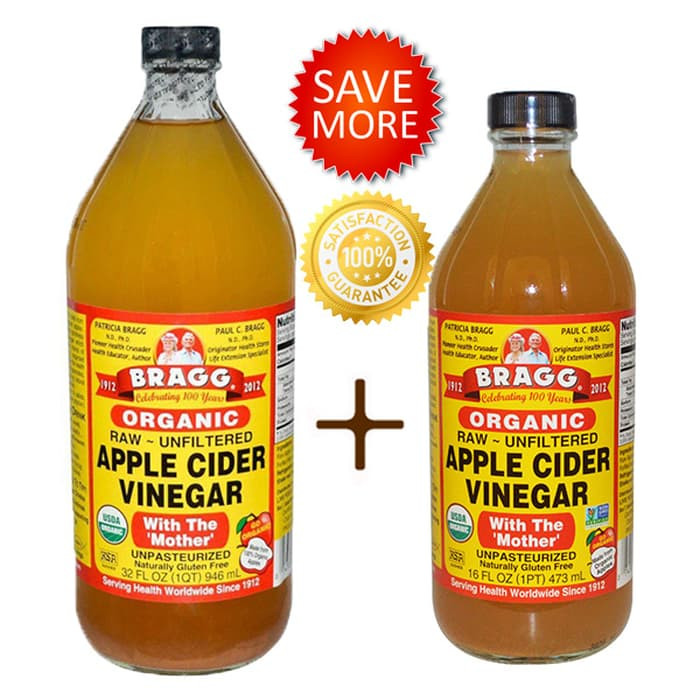 Bragg Apple Cider Vinegar 946 ml + 473 ml ( Cuka Apel 946 ml + 473 ml)