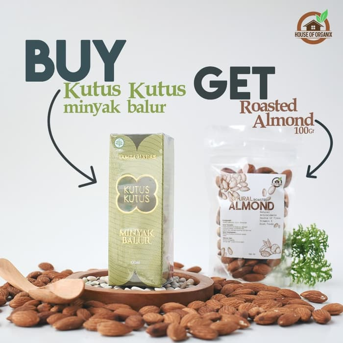 Buy Kutus - Kutus Get Roasted Almond 100 Gr