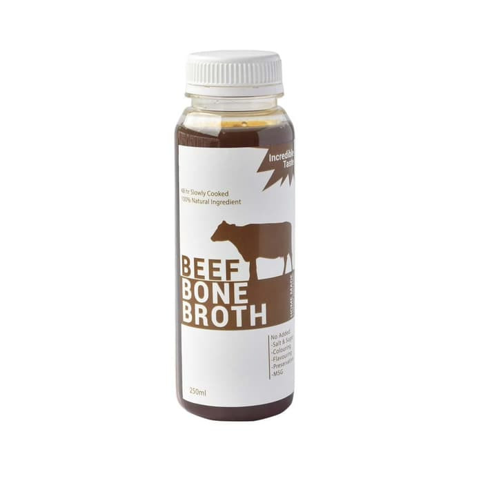 Organic Homemade Premium Beef Bone Broth / Kaldu Tulang Sapi 250 ml