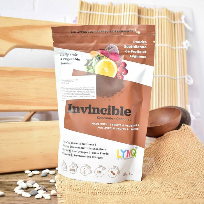 LYNQ Superfood Powder Invicible Chocolate 200 Gr