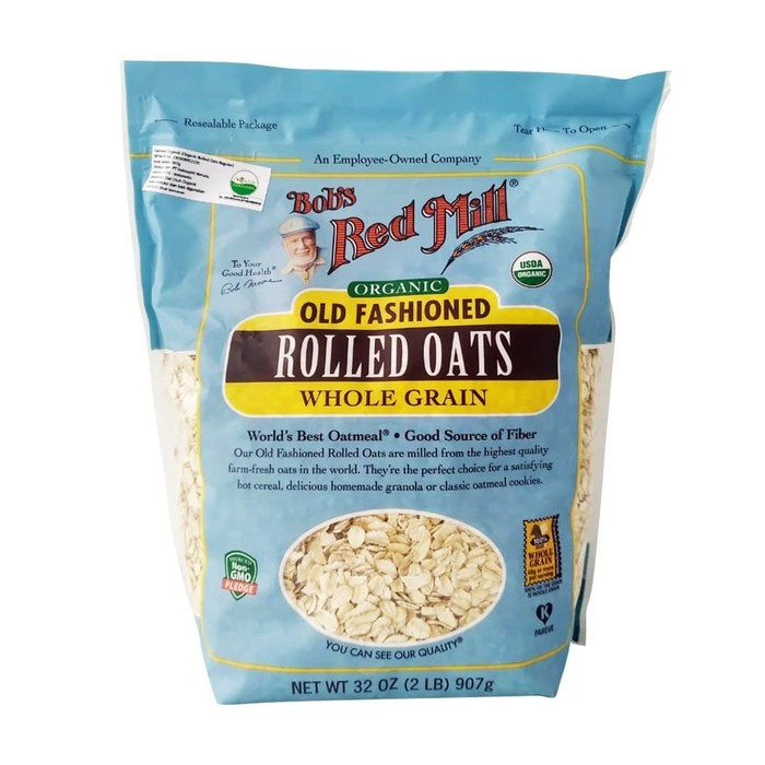 Bob's Red Mill Organic Old Fashioned Rolled Oats - 907 Gr