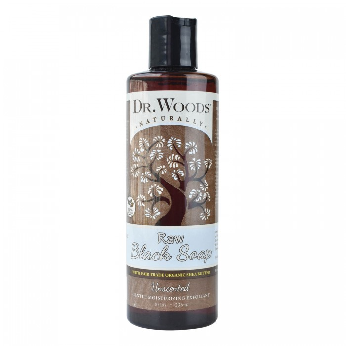 Dr Woods Naturally Raw Black Soap With Fair Trade Shea Butter 236 Ml