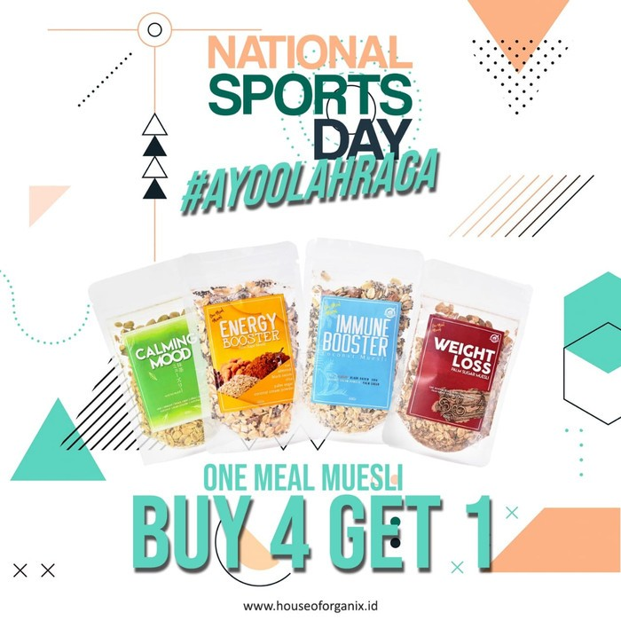 House Of Organix Buy 4 Get 1 Special National Sport Day