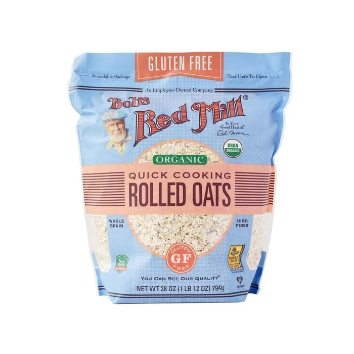 Bob's Red Mill Gluten Free Organic Quick Cooking Rolled Oats - 907 Gr