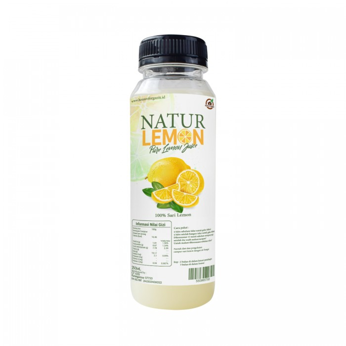 House Of Organix Natur Lemon 250 Ml