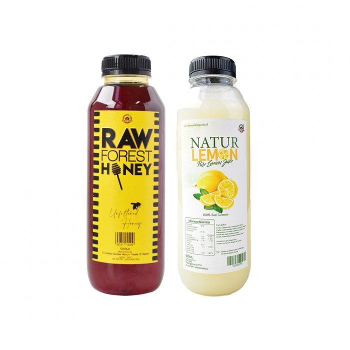 Bundle Package Natur Lemon 500 Ml + Hofo Raw Forest Honey 500 Ml