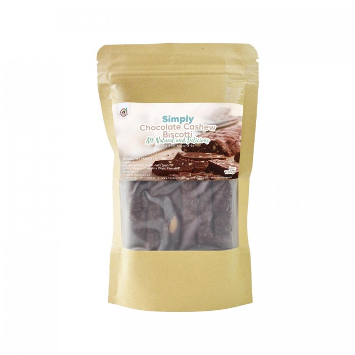House Of Organix Simply Cashew Biscotti 100 Gr