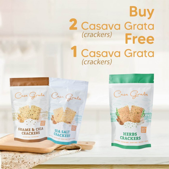 Buy 2 Get 1 Casa Grata Crackers Snack 90 Gr
