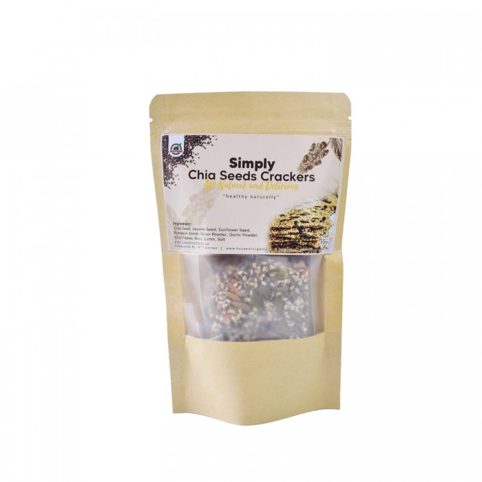 House Of Organix Simply Chia Seeds Crackers 50 Gr
