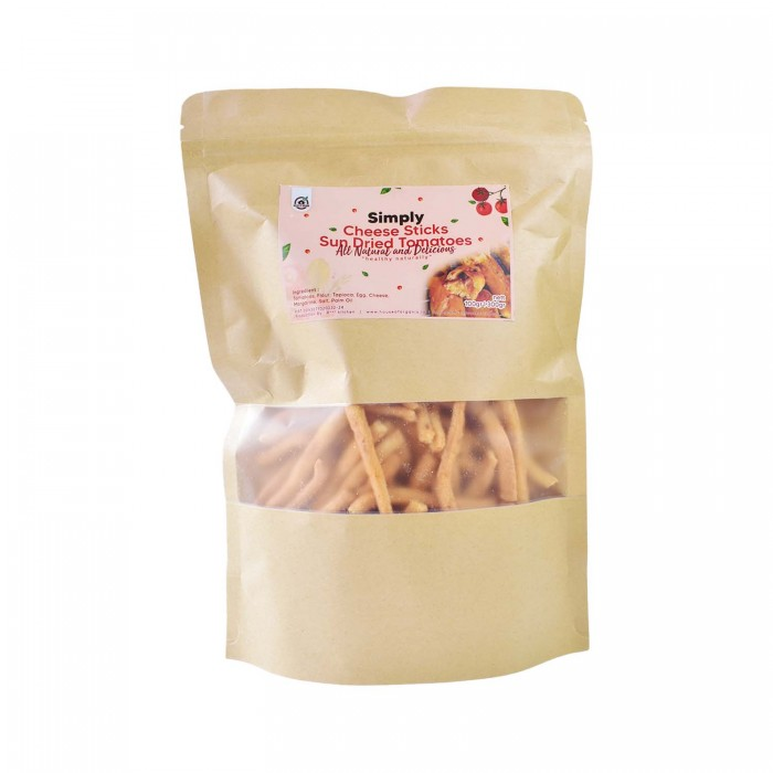 House Of Organix Simply Cheese Sticks Sun Dried Tomatoes - 100 Gr